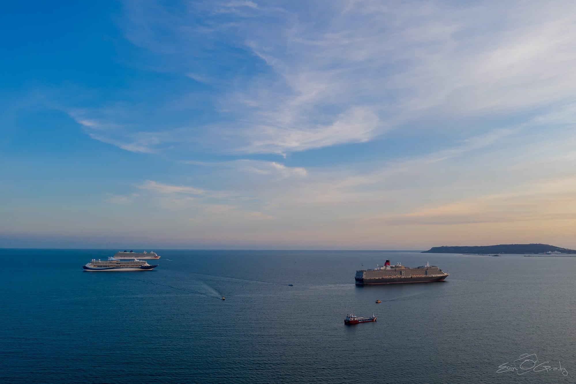 Cruise Ships in Weymouth Bay