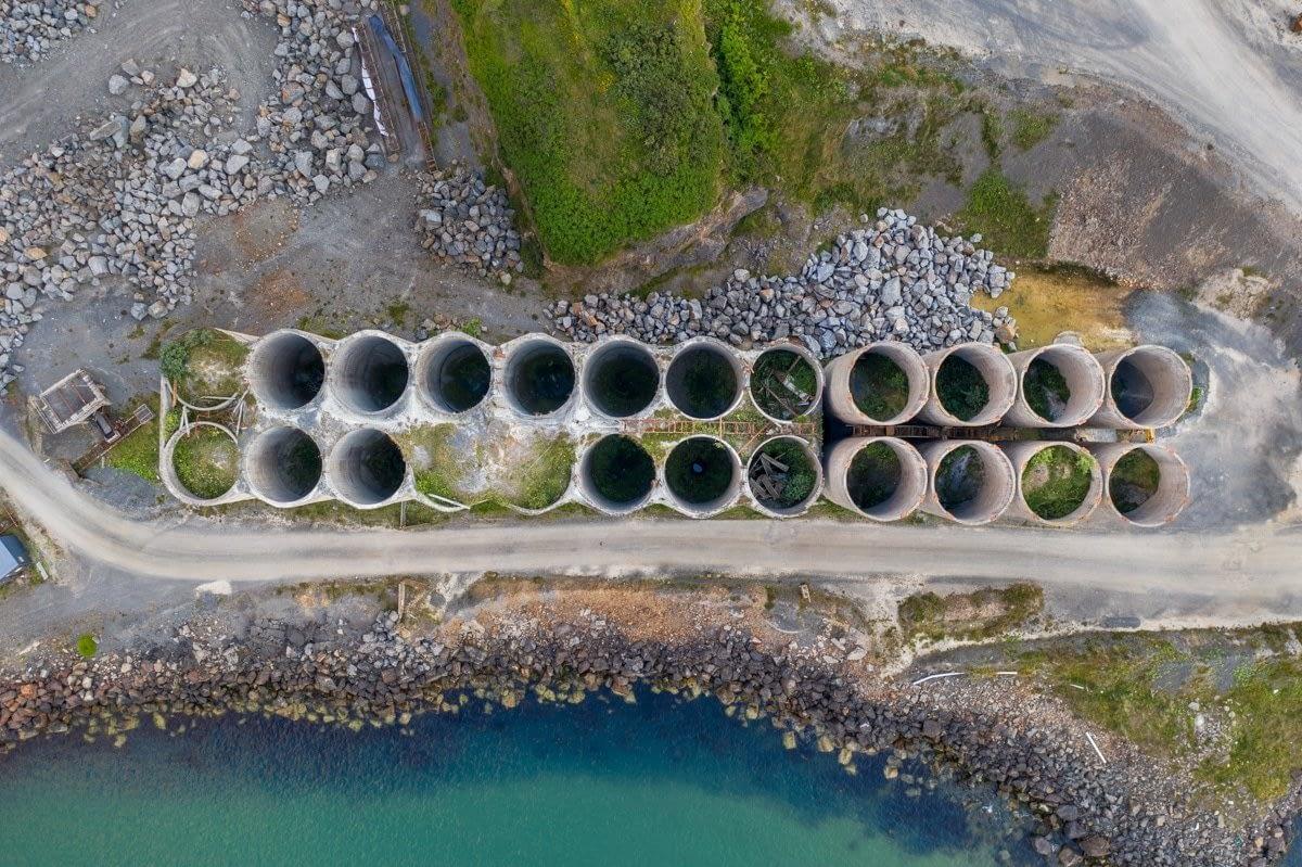 Aerial inspection of quarry storage