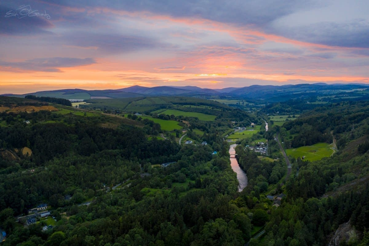 Sunset over the Vale of Avoca