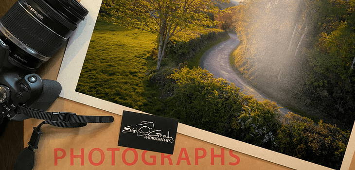 """10"""" x 15"""" print of a country road in Ireland"""