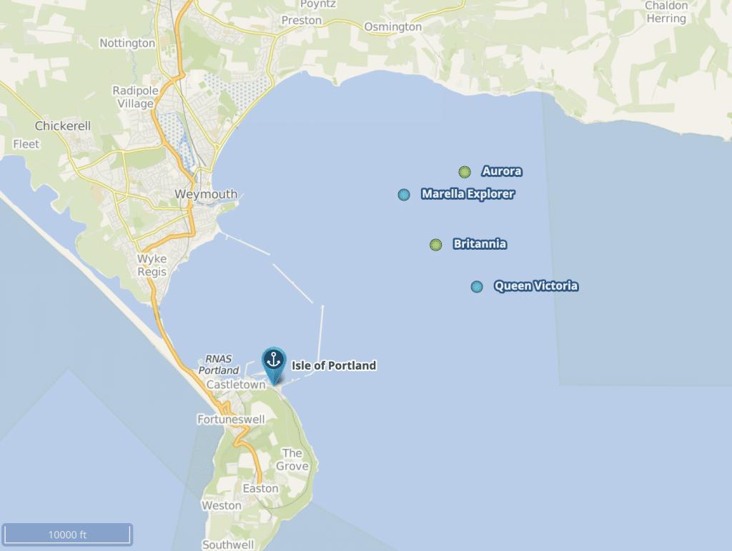 Cruise Mapper Weymouth Bay