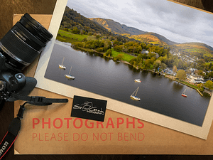 Autumn In The Lake District Aerial Photo Print