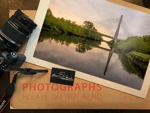 Aerial photo of Boyne Valley Bridge, Ireland