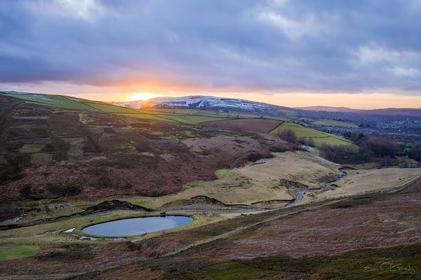 Hurst Reservoir Sunset