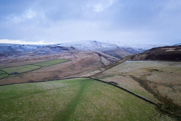 Snow in the Peak District.