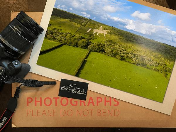 Osmington White Horse Photo Print