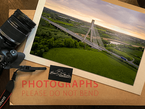 Aerial photo of Boyne Valley Bridge, Ireland