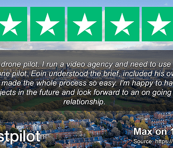 "Trustpilot 5star rating ""Fantastic drone pilot"""