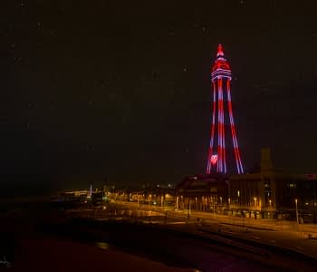 Blackpool Tower during COVID-19