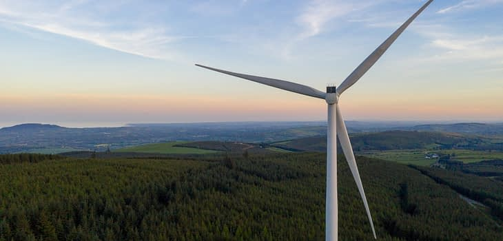 Inspection of wind turbine with a drone